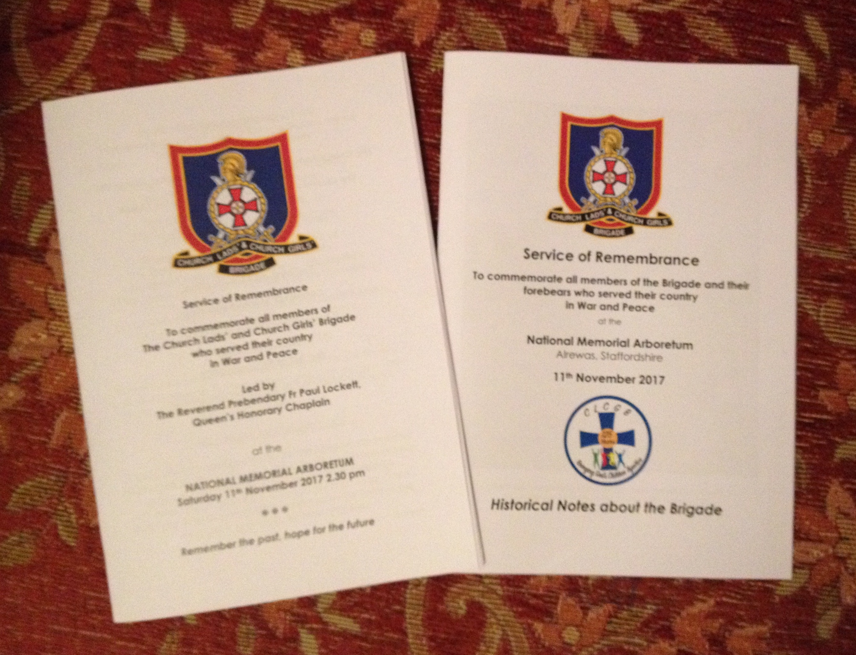 Order of Service - Available upon Request