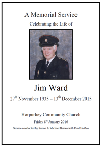 Jim Ward's funeral service